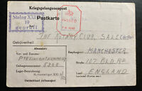 1942 Germany Stalag 21d Prisoner of War POW Postcard Cover to Manchester England