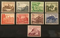THIRD REICH 1939 Mi. #730-738 mint MNH Winterhilfswerk Stamp Set