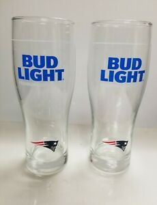 Bud Light Patriots Beer Glass  Set of 2 Brand New