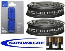 2 X Schwalbe 700x45c SV CAMERE D'ARIA & 3 Schwalbe Pneumatico Leve rintracciato la consegna