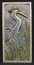 Arts and Crafts Earthsong 6x12 Heron Facing Right Tile