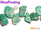 "25-50mm Freeform Sea Sediment Jasper Agate Flat Stone Beads Jewelry Making 15"""