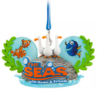 Disney Parks The Seas Nemo & Friends Seagulls Ear Hat Holiday Ornament Epcot NEW