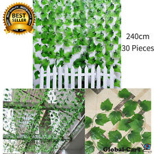 30 Piece Artificial Ivy Leaves Hanging Wall Flower Vines Home Garden Fence Decor