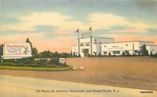 1940s Stockholm roadside Bound Brook New Jersey Tichnor postcard 570