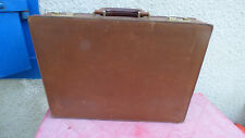 attache-case vintage en cuir marron Lancel