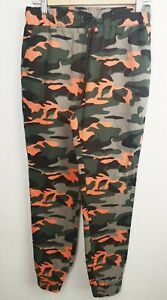MISSPAP Women's Army Joggers Camouflage Training Pants Trousers Drawstring K981