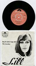 """[BEE GEES] LILL LINDFORS ~ JAG AR FRAN TOPP TILL TA / NU ~ 1968 SWEDISH 7"""" + P/S"""