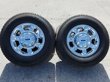"""18""""x8"""" CHROME FORD Wheels Tires F250SD PICKUP 2012-2016 OEM Factory Rims 3873"""