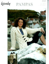 "Wendy Knitting Pattern 5502 Cabled Waistcoat Mega Chunky 32-42/"" Ladies NEW"