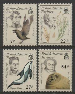 British Antarctic Territory 1985 Naturalists set of 4 Mint Unhinged