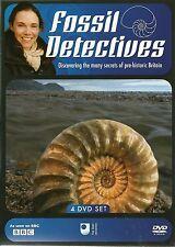 FOSSIL DETECTIVES - 4 DVD BOX SET - SECRETS OF PRE-HISTORIC BRITAIN