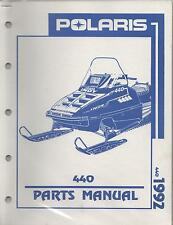1992 POLARIS SNOWMOBILE INDY 440 P/N 9912124 PARTS MANUAL (724)