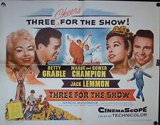 THREE FOR THE SHOW,Betty Grable,Jack Lemmon, Original Half Sheet Poster,20-18