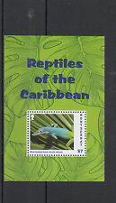 Montserrat 2013 MNH Reptiles of Caribbean 1v S/S Lizards Blue-headed Anole