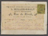 1892 Sage 20c. Brique-s-vert sur étiquette et support d'envoi de photos X1357
