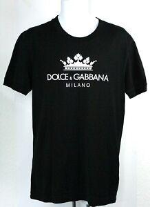 Dolce & Gabbana Milano Logo Mens T Shirt Black, UK Size S