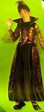 Halloween SPIDER PRINCESS Costume SZ  4 - 6X CHILD New Girl BLACK RUST Dress