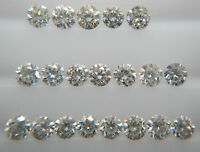 0.08cts 20pc Natural Loose Brilliant Cut Diamond Lot SI Clarity H Color Round