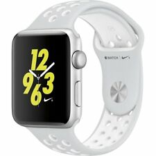 Apple Watch S2 Nike+ 38mm Silver Case Pure Platinum/White Nike Sport Band | New