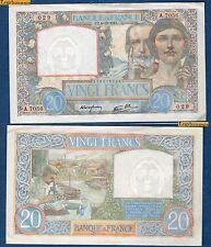 20 Francs Science et Travail Type 1940 - 4-12-1941 A.7056 N°029 SPL-