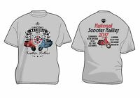 SALE** 2017 NATIONAL SCOOTER RUN RALLY TSHIRT LAST FEW REMAINING FREE POSTAGE