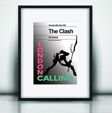 More details for the clash's last concert ii poster print olivia valentine© 2021 exclusive