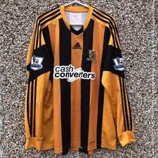 2013 2014 Hull City L/S Long Sleeved Adidas Classic home football shirt - L