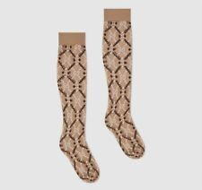 Gucci GG Sheer Diamond Knee Socks NWT $100