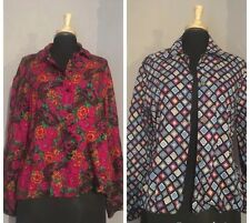 2x Bundle Vintage Shirts Ladies Size 12-14 VGC  80's Trendy Planet