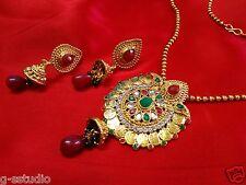 Wedding wear Lakshmi Coin ginni temple Necklace set-Peacock Bridal Jewellery
