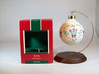 Hallmark Keepsake White Glass Ball Ornament 1989 Sister - #QX2792-DB