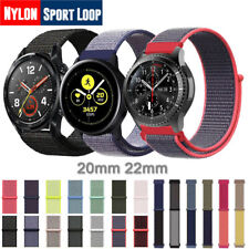 For Samsung Galaxy Watch 40 44mm Active 2 S3 20 22mm Nylon Sport Loop Band Strap