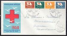 Nederlandse Antillen FDC  1 DEC 1958 / Rode Kruis serie nv ph E 8