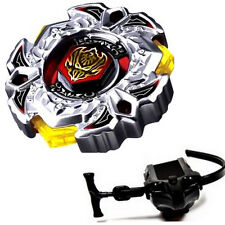 Rare Beyblade Set Fusion Metal Fight Master 4D Top Rapidity Launcher Grip 114