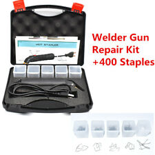 Hot Stapler Car Bumper Fender Fairing Welding Gun Plastic Repair Kit 400 Staples