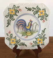 Chanticleer Rooster Cooley Collection Square Dinner Plate Excellent, Replacement