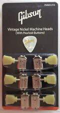 Gibson Les Paul Tuners Klusen Deluxe Nickel Pearloid Buttons Set w/Pick Genuine