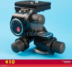 Manfrotto 410 a 3-Way, Geared Pan-and-Tilt Head with 410PL Quick Release Plate