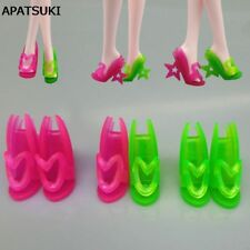 5pairs/lot Fashion Doll Shoes For Monster High Dolls High Heel Star Sandal Shoes