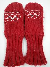 2010 Winter Olympics Vancouver, Canada Thick Red Mittens Gloves - Youth