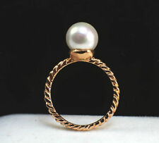 Unbranded Pearl Rose Gold Plated Fashion Rings