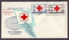d4862/ New Hebrides Red Cross FDC Cover 1963
