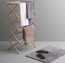 Classic Vintage Traditional BAMBOO WOOD Folding Clothes Airer Horse 2,3,4 Tier