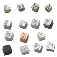 Rare metal elements Cube 10mm/25.4mm Pure Density 99.95% Metal C Al Ti Fe Mg Cr