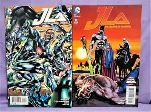 DC New 52 JLA Justice League of America #1 & #8 Variant Cover 2-Pack (DC, 2015)!