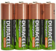 DURACELL 4 x AA 1700 mAh Rechargeable NiMH Batteries by DURACELL in FREE CASE