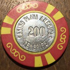 JETON DE CASINO 200 . PLAYA AMERICAS A TENERIFE (514)