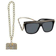 adulti hip hop Bling RAPPER GANGSTER Dude Catenina & OCCHIALI accessorio