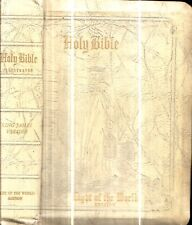 1954 DELUXE LEATHERBOUND BIBLE COLOR MAPS PRINTS PRESENTED TO ANDERSON FAMILY